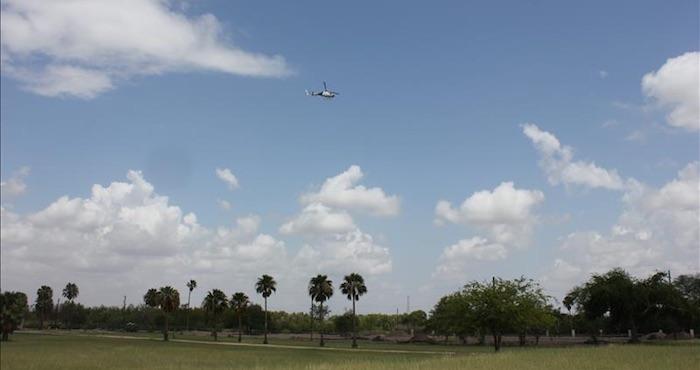 Un helicóptero de EU, forzado a aterrizar al ser disparado desde México. Foto: Archivo EFE