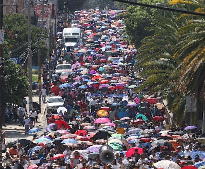 En diversos estados hubo manifestaciones  en protesta por los exámenes. Foto: Cuartoscuro