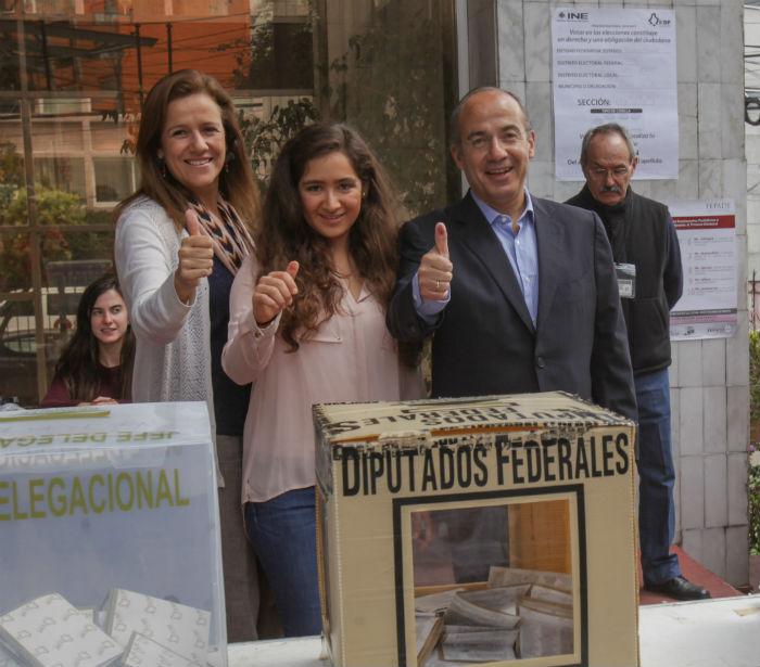 Los Calderón Zavala el día de las elecciones pasadas. Foto: Cuartoscuro.