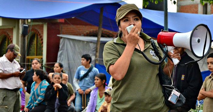 Nestora Salgado García, integrante de la Coordinadora Regional de Autoridades Comunitarias (CRAC). Foto: Free Nestora.