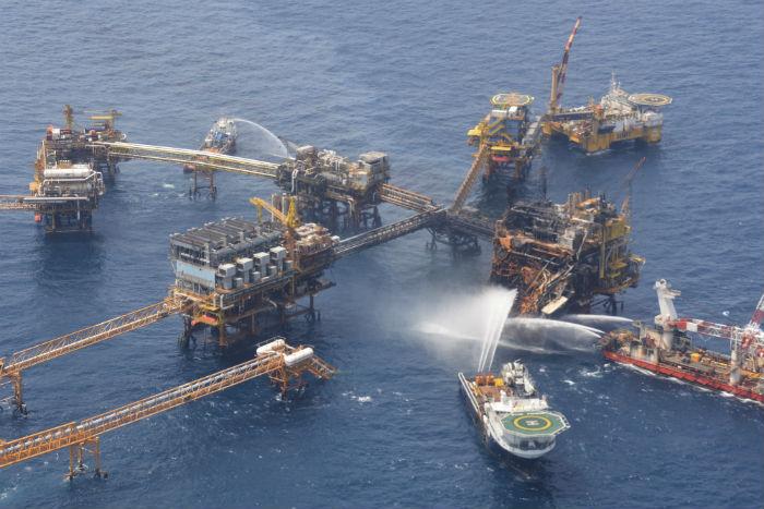 La Sonda de Campeche, uno de los yacimientos de petróleo más ricos del mundo. Foto: Cuartoscuro