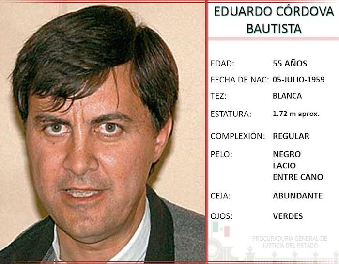 Eduardo Córdova está entre los más buscados de la Procuraduría del Estado. Foto: Procuraduría de San Luis Potosí.