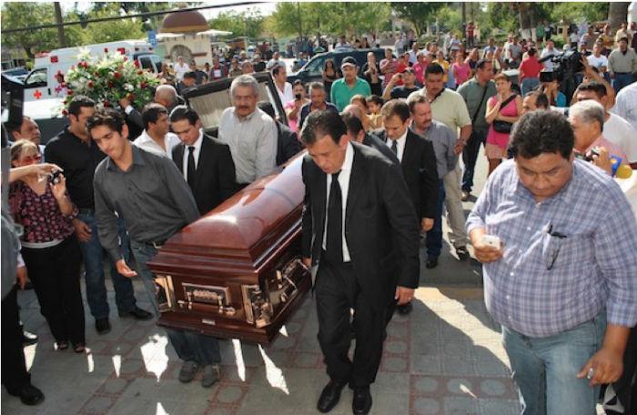 El ex Gobernador durante los funerales de su hijo, en noviembre de 2012. Foto: Cuartoscuro