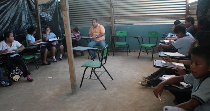 Primaria en rancho de Tabasco. Foto: Cuartoscuro.