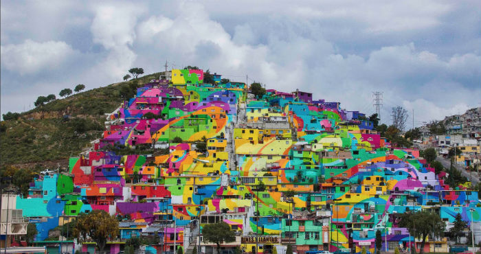 Con Graffiti Una Organizacion Mexicana Pinta Mural Gigante En Un