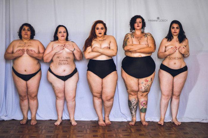 Chica gorda en bragas
