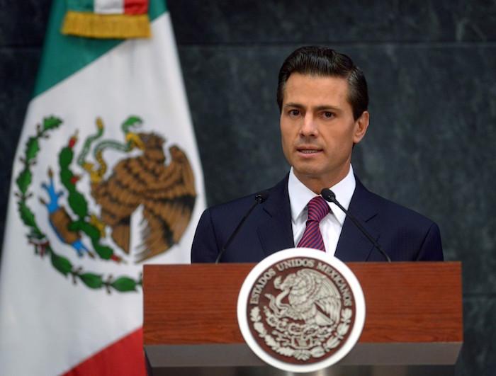 Enrique Peña Nieto en el mensaje del pasado 27 de agosto donde anunció los cambios más numerosos a su Gabinete. Foto: Presidencia.