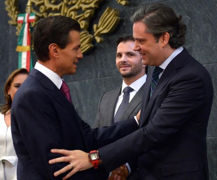 Aurelio Nuño es visto como uno de los presidenciables para 2018. Foto: Presidencia.