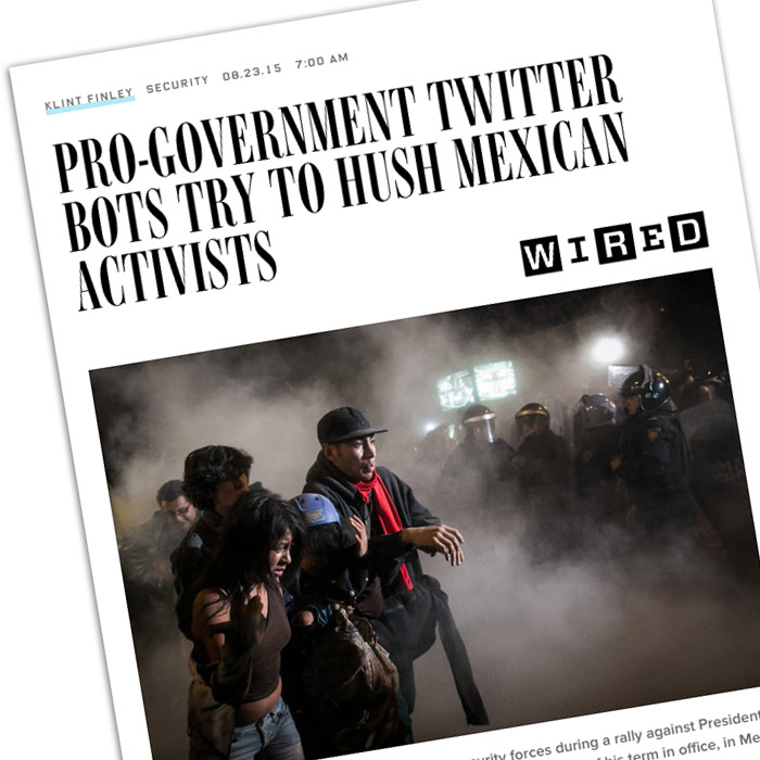"Bots ""pro gobierno"" en Twitter buscan reprimir la libertad"