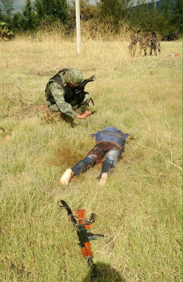 El lugar del enfrentamiento en Tanhuato. Foto: Cuartoscuro.