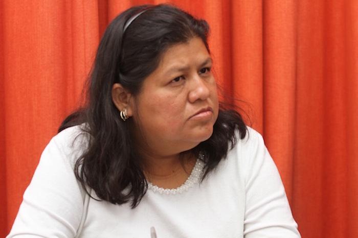 Norma Trujillo, reportera de La Jornada, viajó a la Ciudad de México con el fin de visibilizar la situación prevaleciente todavía en Veracruz. Foto Luis Barrón, SinEmbargo.
