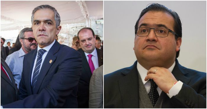 El Jefe de Gobierno Miguel Ángel Mancera (izquierda) y el Gobernador Javier Duarte (derecha). Fotos: Cuartoscuro.