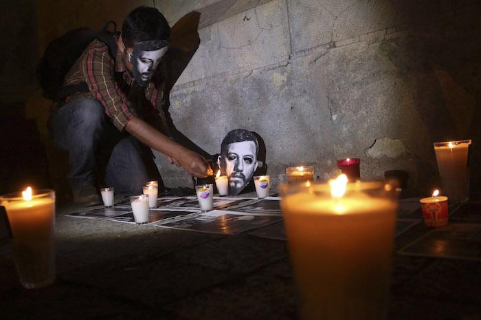 Manifestaciones de protesta por el asesinato del fotoreportero. Foto: Cuartoscuro