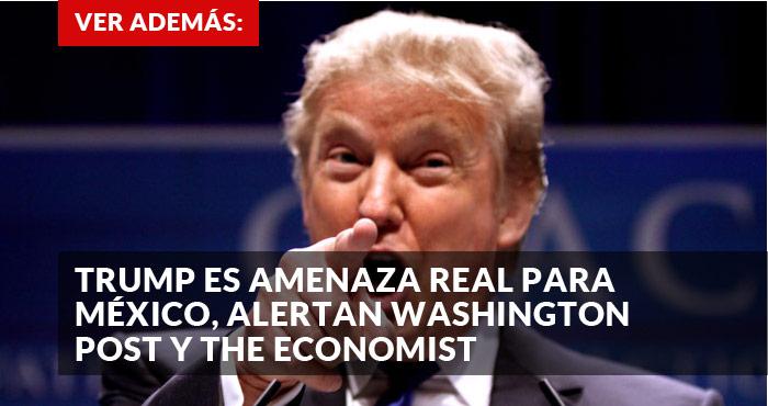 Resultado de imagen para Caricatura de Trump amenazando a México