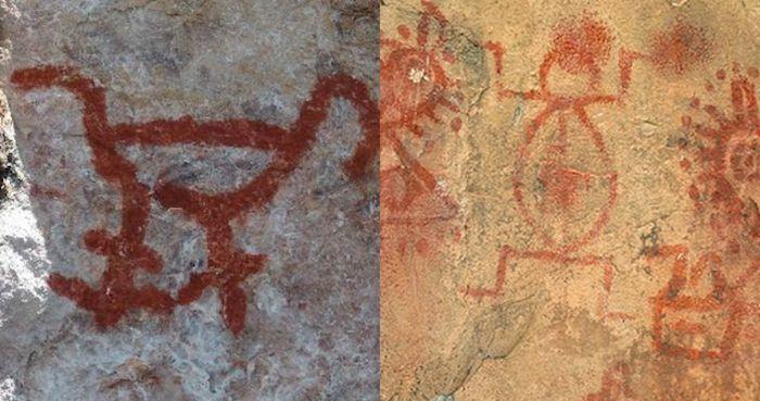 Pinturas rupestres en Brasil. Fotos: Internet