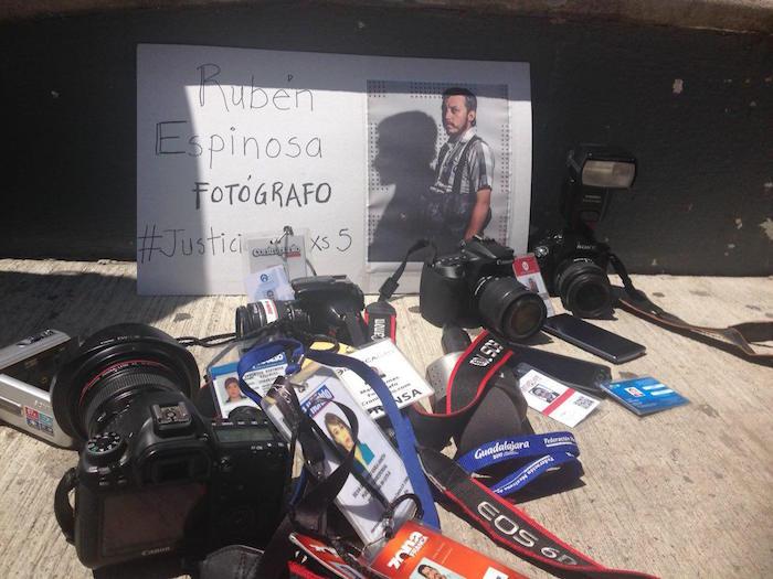 En León, Guanajuato, exigieron justicia por Rubén. Foto: Zona Franca