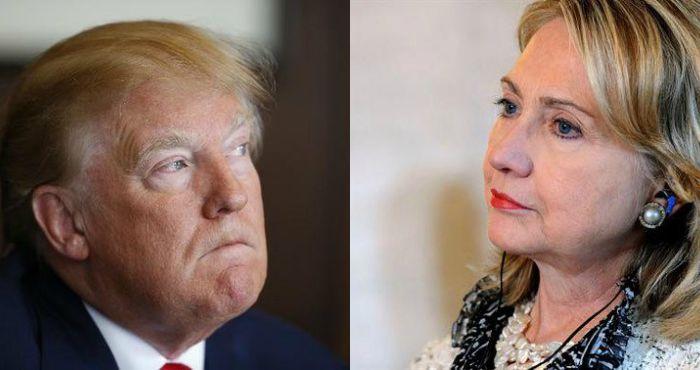 En la imagen, el candidato republicano Donald Trump y la ex Primera Dama Hillary Clinton. Foto: EFE/Especial.