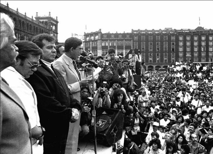 El Frente Democrático Nacional (FDN), al que se sumaron integrantes de distintos movimientos surgidos después del sismo. Foto: enriquehuertacuevas.wordpress.com
