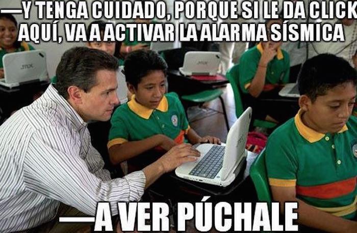 Meme Peña alerta sismo