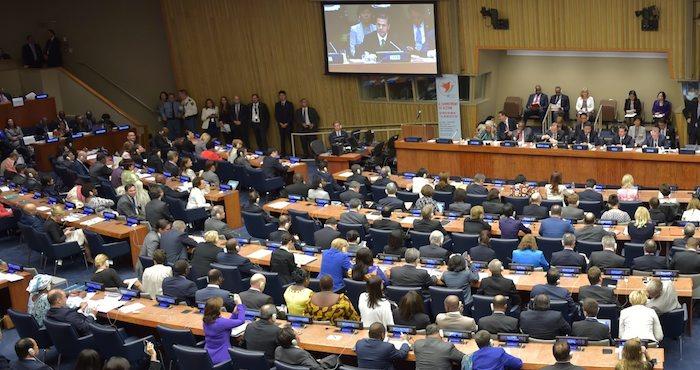 El Presidente Enrique Peña Nieto en su primera intervención en el marco de la 70 Asamblea General de la ONU. Foto: Notimex