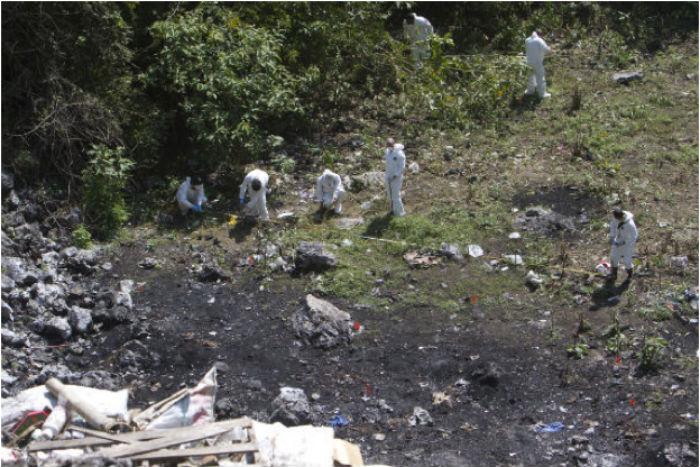 El basurero en el que la PGR aseguró que habían sido quemados los normalistas. Foto: Cuartoscuro