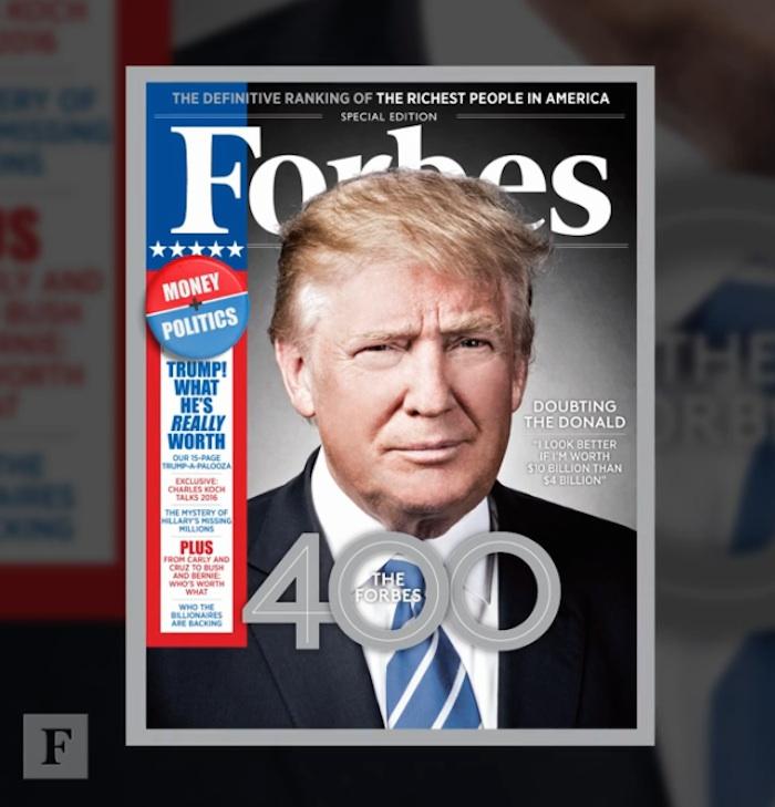 Donald Trump, empresario mobiliario y candidato republicano a la presidencia de EU. Foto: Forbes.