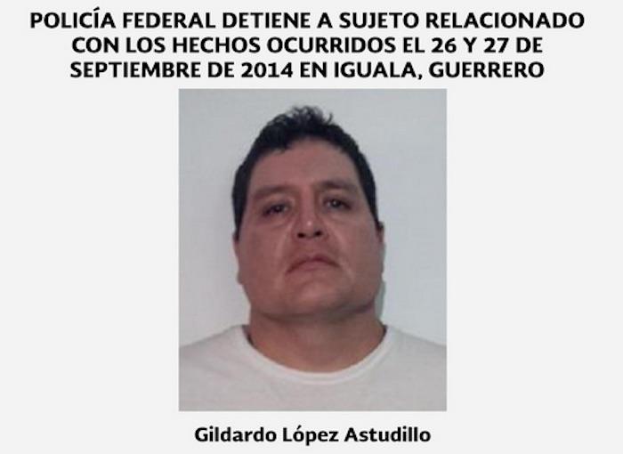 Gildardo López Astudillo, presunto implicado en la desaparición de los 43 normalistas. Foto: Twitter @PGR_mx