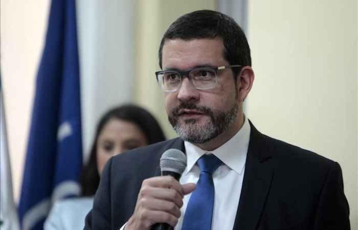 El jefe de misión de la Organización Internacional para las Migraciones (OIM) para El Salvador, Honduras y Guatemala, Jorge Peraza. Foto: Efe