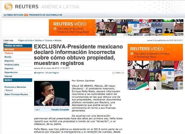 Tras la publicación el Presidente tuvo que actualizar su declaración. Foto: Especial.