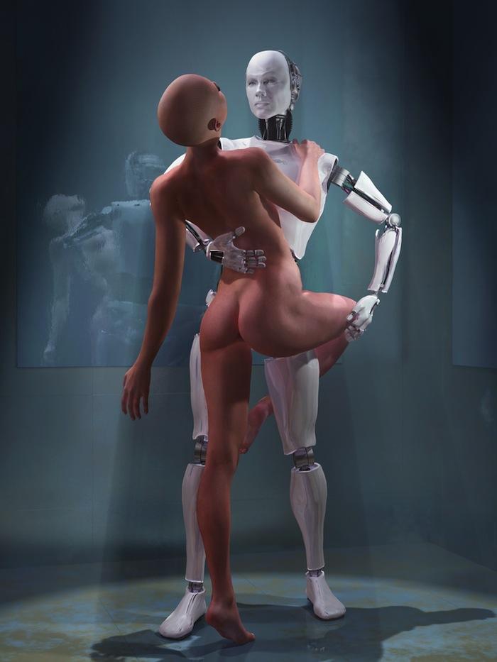 El hombre tiene sexo con robot