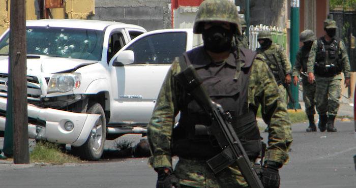 Escena captada tras una balacera en Nuevo Laredo, Tamaulipas. Foto: Cuartoscuro, Archivo