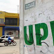 Entrada a la Calle Carlos Salinas de Gortari, uno de los sitios con narcomenudeo ma?s intenso en Chimalhuaca?n. Foto: Humberto Padgett, Sinembargo
