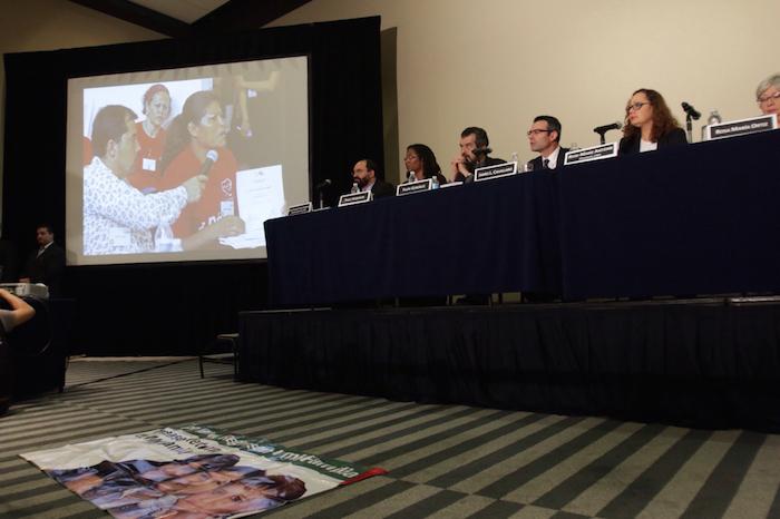La delegación de la CIDH dio una conferencia de prensa la tarde de este viernes sobre su visita a México. Foto: Francisco Cañedo, SinEmbargo