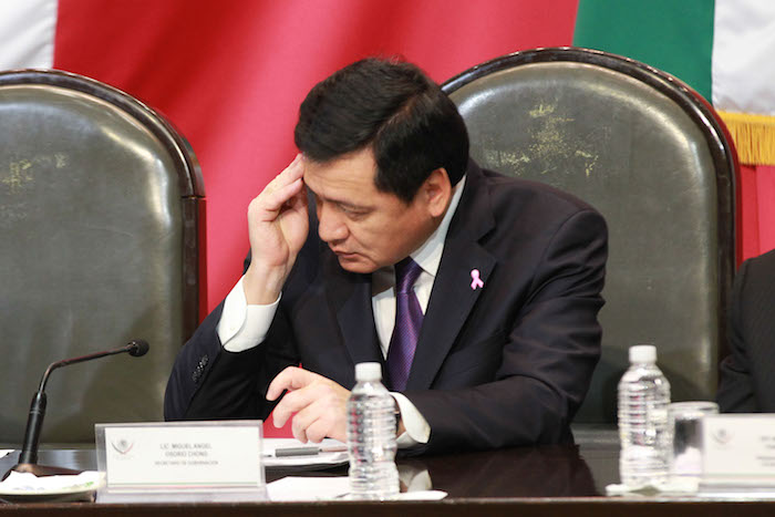 Osorio Chong en su comparencia en la Cámara de Diputados. Foto: Cuartoscuro.