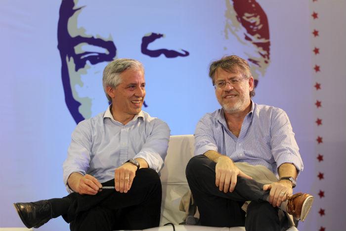 Álvaro García Linera, Vicepresidente de Bolivia y Ricardo Forster, intelectual argentino: el debate latinoamericano. Foto: Luis Barrón, SinEmbargo