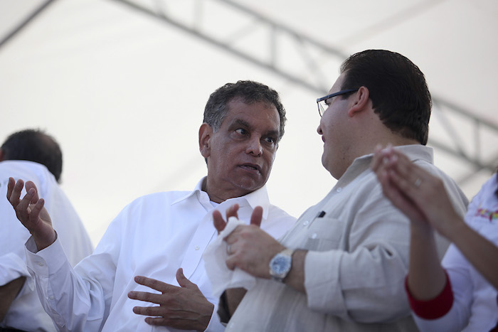 Javier Duarte y Fidel Herrera