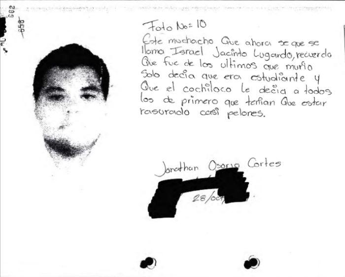 El normalista Jonathan Osorio Cortés