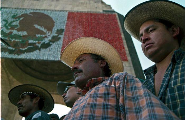 Protesta de campesinos contra el TLCAN. Foto: Cuartoscuro