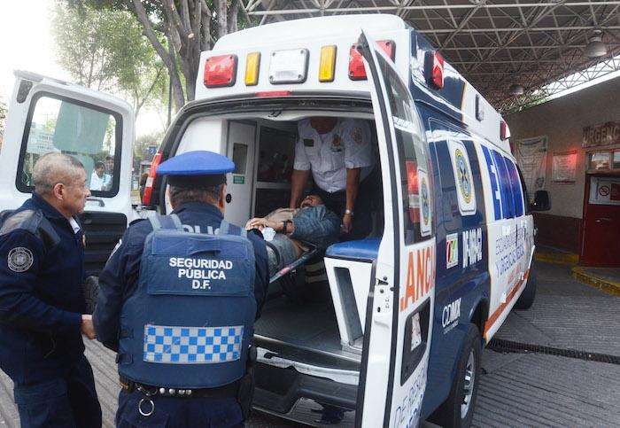 Los heridos fueron trasladados al Hospital General Balbuena. Foto: Cuartoscuro
