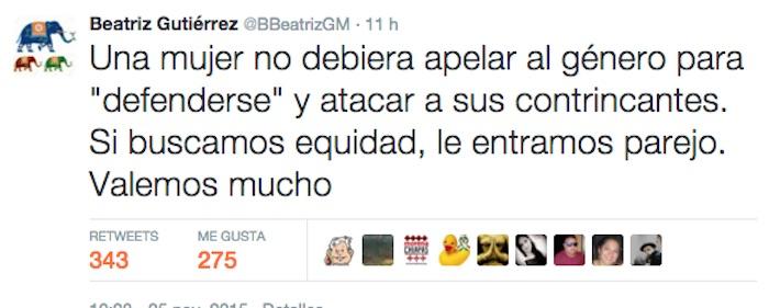 El tuit en defensa de AMLO. Foto: Captura de pantalla