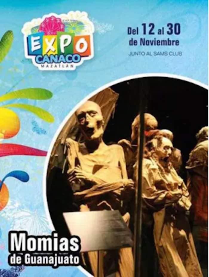 Cartel promocional de momias. Imagen: Especial