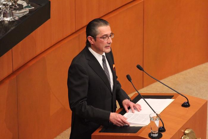 Alejandro Jaime Gómez Sánchez, Procurador del Edomex, y aspirante a Ministro de la SCJN, durante su comparecencia en el Senado. Foto: Luis Barrón, SinEmbargo