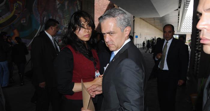 El Jefe de Gobierno, Miguel Ángel Mancera, niega la presencia de grupos del crimen organizado en la capital del país. Foto: Cuartoscuro