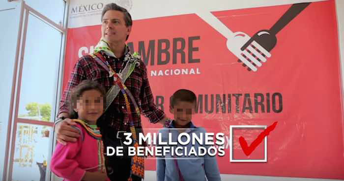 El informe detalla que en 2013, primer año del gobierno de Enrique Peña Nieto, la administración ejerció 7.1 mil millones de pesos en publicidad oficial. Foto: Captura de pantalla
