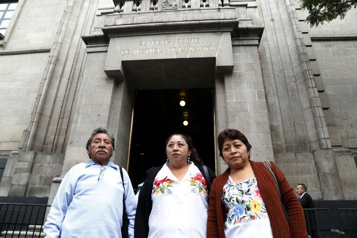 Apicultores mayas  presentes durante la ratificación de la suspensión del permiso de Monsanto. Foto: Robin Canul