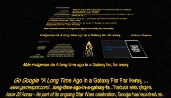 Google sorprende nuevamente a los fanáticos de Star Wars. Foto: Captura de pantalla