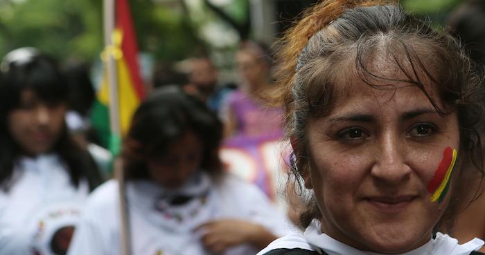 Marcha en Brasil por cumbre del cambio climático. Foto: Xinhua