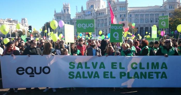 Miles se manifiestan en España por el cambio climático. Foto: @Equo