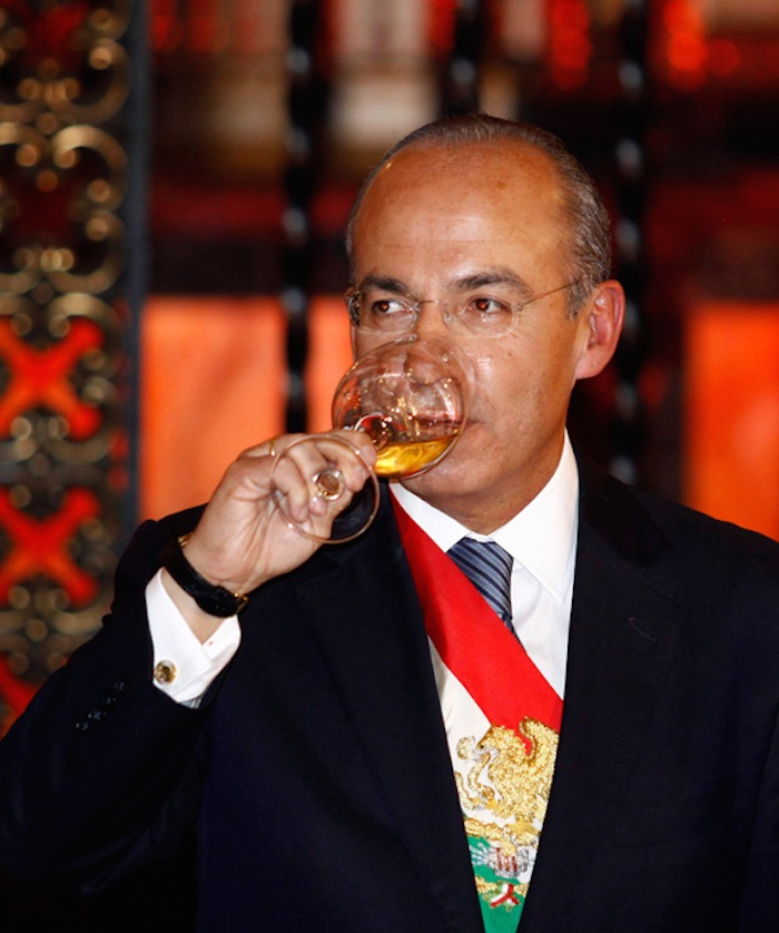 Felipe Calderón en su última cena antes de dejar la Presidencia de México. Foto: Cuartoscuro