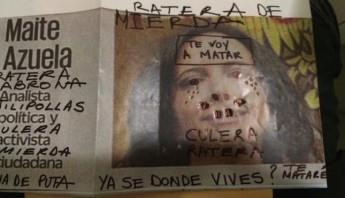 Amenaza de muerte de Maite Azuela, periodista de El Universal. Foto: Articulo 19